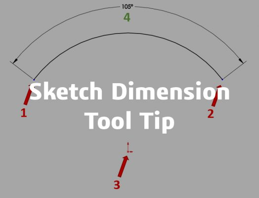 Sketch Dimension Tool Tip