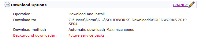 Downloading SOLIDWORKS